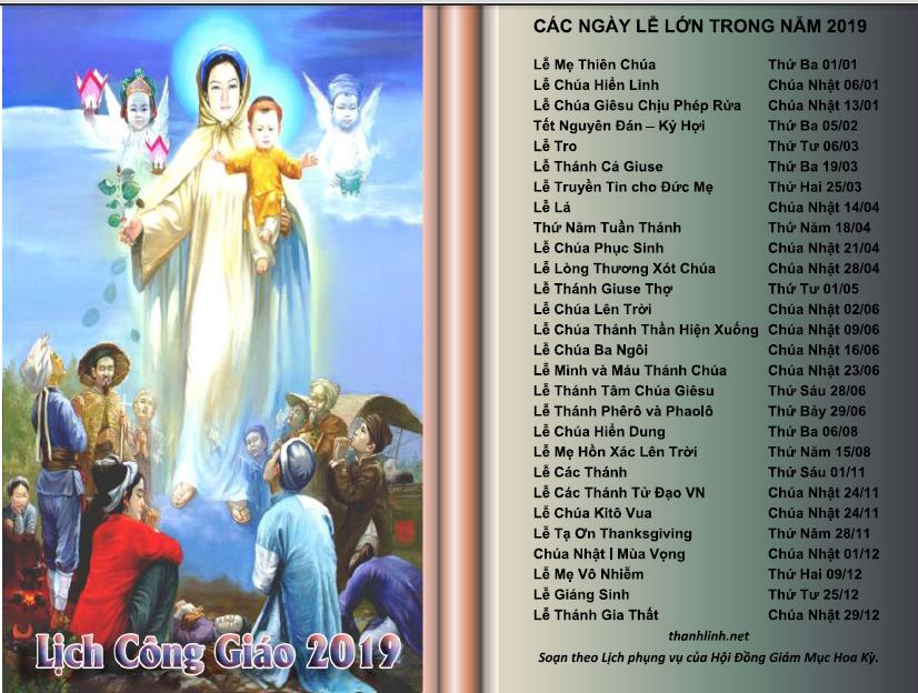 Lịch Công Giáo